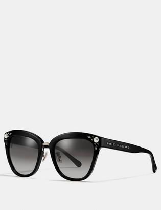 Coach Prairie Rivets Square Sunglasses