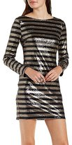 Charlotte Russe Striped Sequin Bodycon Dress