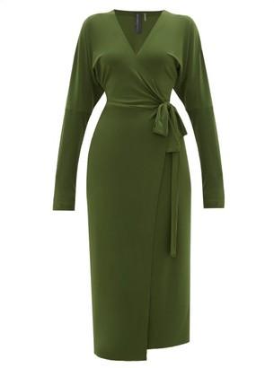 Norma Kamali Dolman-sleeve Wrap Dress - Khaki