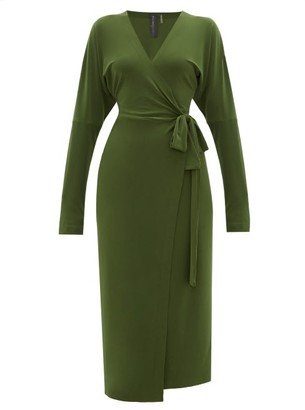 Norma Kamali Dolman-sleeve Wrap Dress - Womens - Khaki
