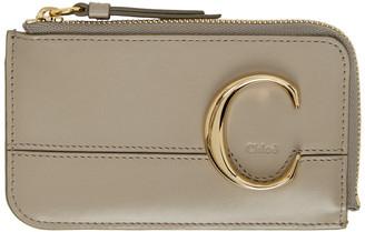 Chloé Grey C Card Holder