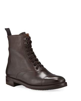 Gravati Leather Lace-Up Hiker Boots