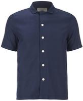Folk Men's New Piano Short Sleeve Shirt Navy Texture
