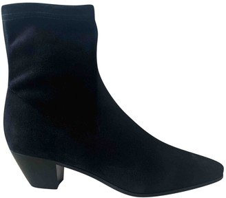Maje Fall Winter 2019 Black Suede Ankle boots