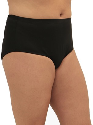 Fit 4 U Fit 4 Ur Tummy Solid Swim Briefs - Plus