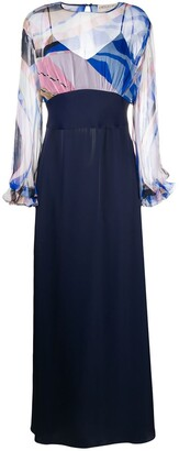 Emilio Pucci Wally-print evening dress