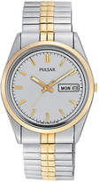 Pulsar Mens Two Tone Expansion Watch-Pxf308