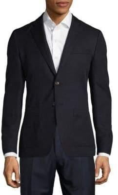 Michael Kors Slim Fit Textured Cotton-Blend Sportcoat