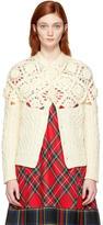 Comme des Garcons Off-White Aran Crochet Cardigan