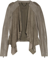 Muu Baa Muubaa Lupus draped suede and leather biker jacket