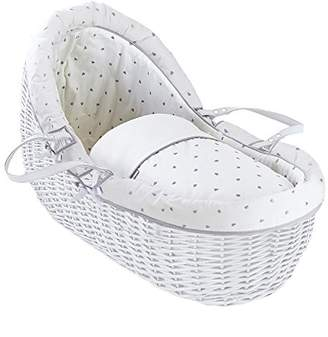 Clair De Lune Lullaby Hearts White Willow Bassinet