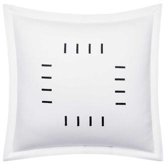 Vera Wang Zig Zag Bar Cotton Throw Pillow