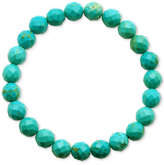 Macy's Faceted Bead Aqua Stone Stretch Bracelet