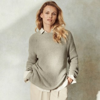 The White Company Funnel-Neck Jumper , Clay, Extra Small