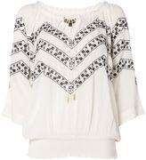 Biba Cold shoulder embroidered blouse