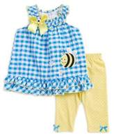 Nannette Little Girl's Two-Piece Bumble Bee Printed Top and Leggings Set