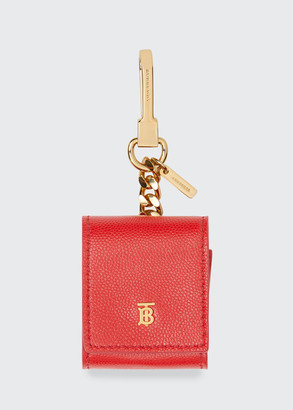 Burberry Hampshire Leather Earphone Key Ring Case