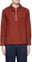 Marni Half zip wool houndstooth top