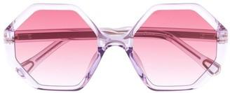 Chloé Kids Willow hexagonal-frame sunglasses