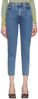 SLVRLAKE Blue Beatnik High-Rise Slim Jeans