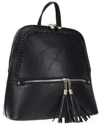Alyssa Women's Backpacks BLACK - Black Braided Tassel Backpack
