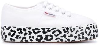 Superga Leopard-Print Platform-Sole Sneakers