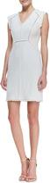Rebecca Taylor Fringe-Trim Tweed Dress