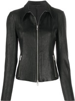 Drome fitted leather jacket