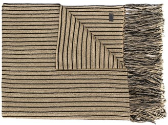 Saint Laurent Striped Long-Length Scarf