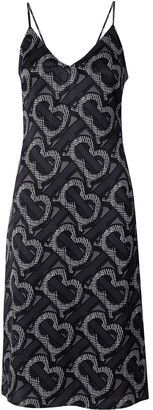 Burberry Monogram-print slip dress