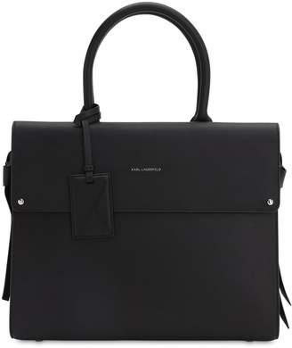 Karl Lagerfeld Paris IKON LEATHER TOP HANDLE BAG