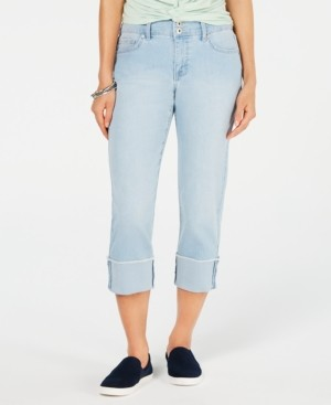 Style&Co. Style & Co Petite Curvy-Fit Cuffed Capri Jeans, Created for Macy's