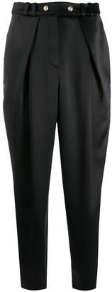 Balmain High-Waisted Satin Trousers