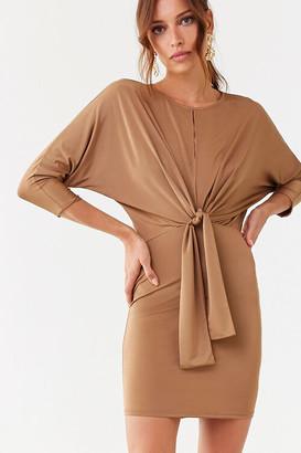 Forever 21 Front Slit Mini Dress