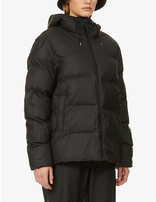 Rains Hooded shell puffer jacket