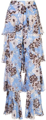 Alexis Elyria floral-print trousers