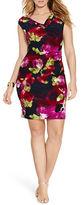 Lauren Ralph Lauren Plus Floral Cowlneck Sheath Dress