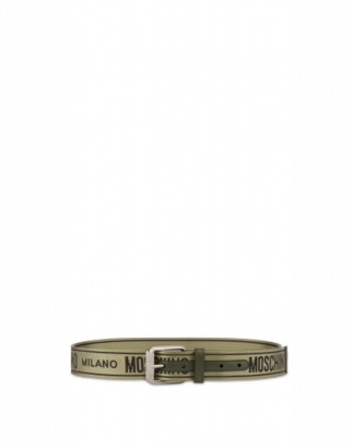 Moschino Belt With Jacquard Logo