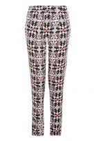 Select Fashion Fashion Womens Multi Large Tile Soft Crepe Trouser - size 10