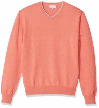 Hickey Freeman Men's Long Sleeve V Neck Sweater