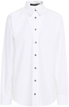 Cédric Charlier Pintucked Pleated Cotton-poplin Shirt