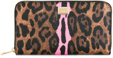 Dolce & Gabbana leopard print continental wallet - women - Cotton/Polyester/Polyurethane - One Size