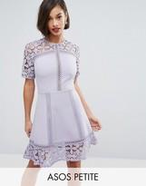 Asos Premium Lace Insert Mini Dress