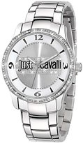 Just Cavalli Women's R7253127502 Huge Silver Stainless steel Band Watch.