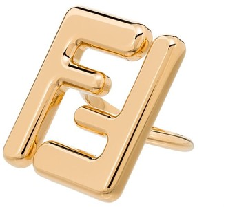 Fendi FF gold-tone ring