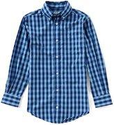 Class Club Big Boys 8-20 Gingham Long-Sleeve Button-Down Shirt