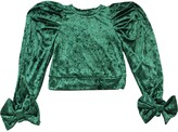 Mummymoon CRUSHED VELVET TOP W/ BOWS