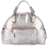 Furla Metallic Leather Handle Bag