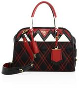 Prada Tessuto Impunto Nylon & Leather Satchel