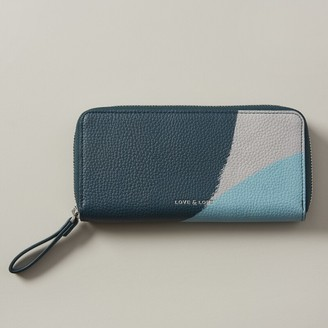 Love & Lore Love And Lore Eden Continental Zipper Wallet Teal Block